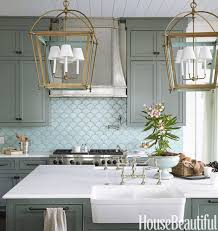 blue tile backsplash kitchen travertine countertops blue tile backsplash kitchen pattern