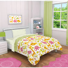 Girls Jungle Bedding by Jump And Dream Rumble Jungle 4 Piece Toddler Bedding Set Walmart Com