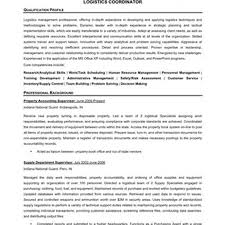 Sample Resume For Purchase Manager by Logistics Manager Cv Template Sample Cover Letter For Non Profit