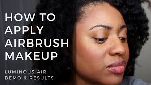 how to apply airbrush makeup luminess air youtube