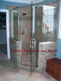 Angled Shower Doors Custom Glass Neo Angle Shower Door With Brushed Nickel Header With