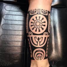 Lower Leg Tattoo Ideas Black Ink Tribal Leg Tattoo Best Tattoo Ideas U0026 Designs Ink