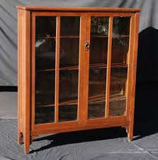 Oak Bookcases With Doors by Voorhees Craftsman Mission Oak Furniture Stickley Brothers Two