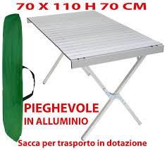 tavola pieghevole tavolo tavolino pieghevole in alluminio 70x110 cm per ceggio