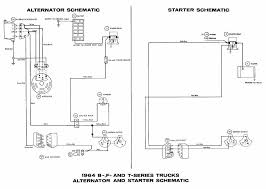 alternator and starter schematic diagrams of 1964 ford b f and