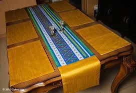 table runner placemat set buy canary yellow handmade silk ethnic table runner 1 and placemat