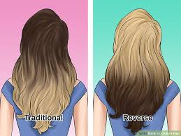 does hair look like ombre when highlights growing out how to ombre hair with pictures wikihow