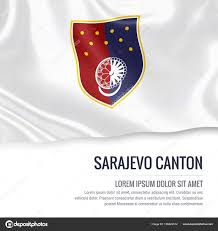 si e de sarajevo federação da bósnia e herzegovina bandeira do cantão de sarajevo