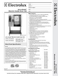 electrolux air o steam aos102eam1 user manual 2 pages also for