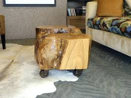tree trunk coffee table houzz end tables chic tree stump nightstand tree trunk coffee tables