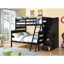 alvis twin full bunk bed with storage ladder by acme furniture