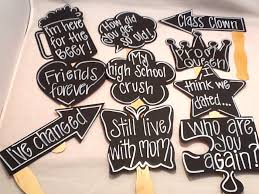 high school reunion favors ten reunion chalk props chalk props chalkboard props for