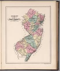 Map Of Hudson County Nj Outline Map Of The State Of New Jersey David Rumsey Historical