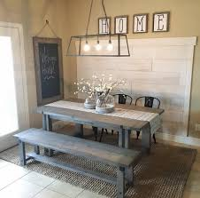 farmhouse shabby chic dining table rustic wood picnicstyle