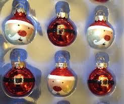 Glass Christmas Ornament Sets - santa face u0026amp santa suit mini glass christmas ornament set by