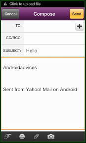 yahoo app for android yahoo mail android app manage accounts with