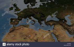 Europe And North Africa Map by Europe And North Africa Map With Highly Detailed 3d Terrain And