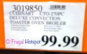 Cuisinart Deluxe Convection Toaster Oven Broiler Cuisinart Deluxe Digital Convection Toaster Oven Broiler Costco