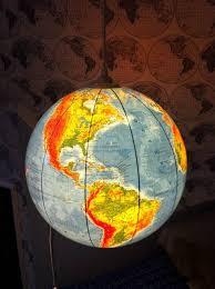 earth globes that light up upcycled world globe easy diy pendant lights
