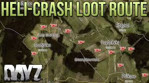 Dayz Sa Map Helicopter Crashsite Loot Route Dayz Standalone Guide Youtube