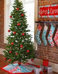 Christmas Stocking Tree Decoration Template by Quilted Christmas Stocking And Tree Skirt Patterns