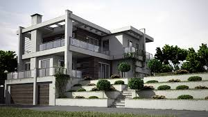 3d architektur visualisierung 3d lichtstudie moderner einer architektur aus beton und glas