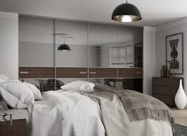 premium mini 3 panel fineline sliding wardrobe doors in grey