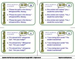 marks task cards 32 multiple choice cards for grades 2 3