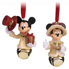 mickey and minnie mouse bell ornament set shopdisney
