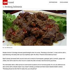 cuisine s 50 rendang and nasi goreng are voted the s best foods again