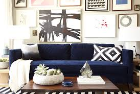 Living Room With Blue Sofa Orlando U0027s Obsessions Bold Blue Sofas U2013 Homepolish