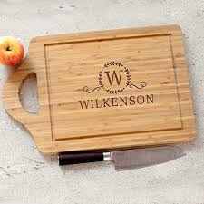 personalized engraved cutting board personalized monogram cutting board giftshappenhere gifts