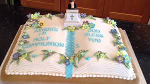holy communion cake youtube