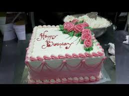 cara membuat kue ulang tahun rose cake simple youtube taart