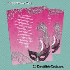 Sweet 16 Invitations Cards Invitaciones De 15 With Peacock Feather Sweet 16