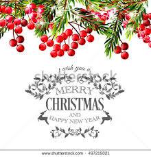 happy new year invitation merry christmas party invitation happy new stock vector 491331229