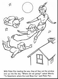 astonishing tinkerbell coloring pages with peter pan coloring