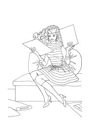 fashion coloring pages print kids coloring