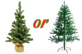 artificial or live environmentally responsible christmas trees
