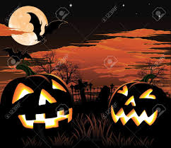 halloween background pumpkin a graveyard bats and pumpkin halloween background royalty free
