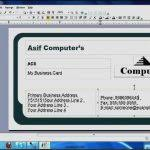 free business card templates for word 2007 template update234