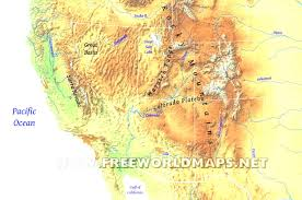 Us Physical Map California Is In Which Region Of The United States Geographical