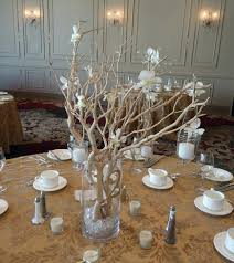 wedding reception centerpieces using branches manzanita branch