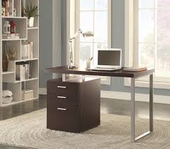 cappuccino reversible writing desk with file drawer by true