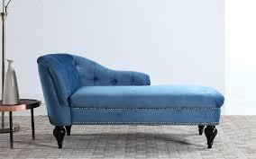 Velvet Chaise Lounge Maddy Modern Small Velvet Chaise Sofamania