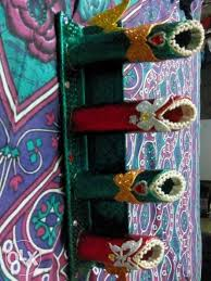 Beaded Vases Four Red And Green Beaded Vases Patiala Fashion Preet Nagar