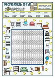 household items vocabulary teaching aids pinterest