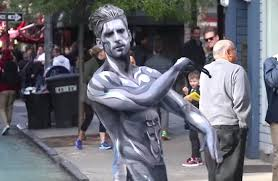 Skateboard Halloween Costumes Silver Surfer Cruises Streets York