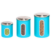 canister sets kitchen kitchen winsome kitchen canisters blue set of 3 and white