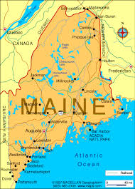 map of maine cities maine city map